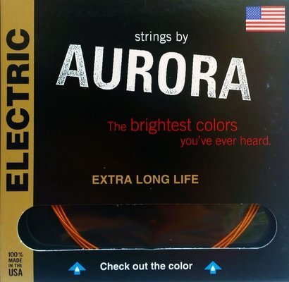 Aurora Premium Electric Guitar Strings Heavy 11-50 Blue