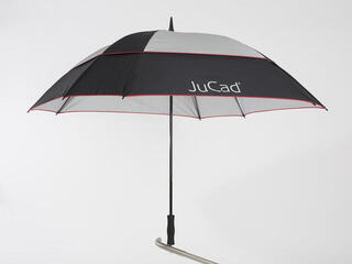 Jucad Umbrella Square & Windproof Black Silver Red