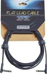 RockBoard Flat Instrument Cable Čierna/Zalomený - Zalomený
