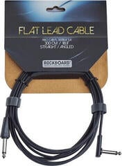 RockBoard Flat Instrument Cable Black/Straight - Angled