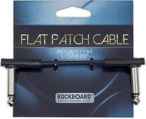 RockBoard Flat Patch Cable Black/Angled - Angled