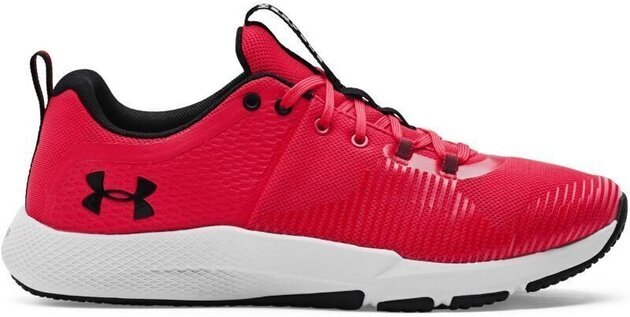 Under Armour Charged Engage Mens Shoes Red/Halo Gray/Black 10.5