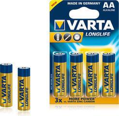 Varta LR06 AA Longlife Extra 4 plus 2