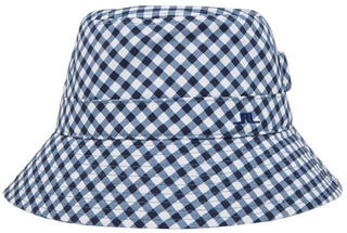 J.Lindeberg Ilsa Bucket Hat Gingham Navy White