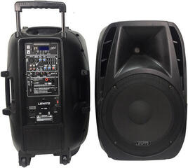LEWITZ Portable PA System With 2 UHF Wireless Microphones