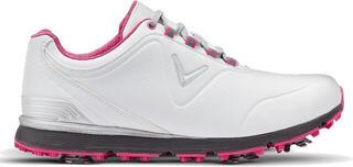 Callaway Mulligan Womens Golf Shoes White/Pink UK 7,5