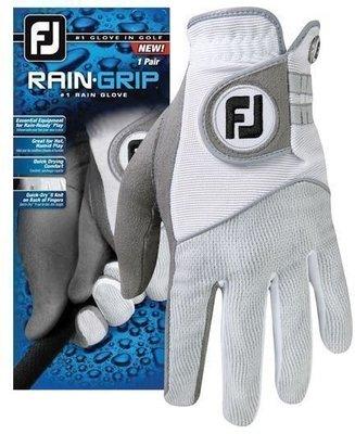 Footjoy RainGrip Herren Golfhandschuhe (Paar) Grau/Weiß S