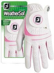 Footjoy WeatherSof Damska Rękawiczka Golfowa White/Pink