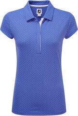 Footjoy Printed Dot Smooth Pq Cap Sleeve Wmn Polo Periwinkle/White M