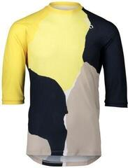 POC Women's Pure 3/4 Jersey Color Splashes Multi Sulfur Yellow S
