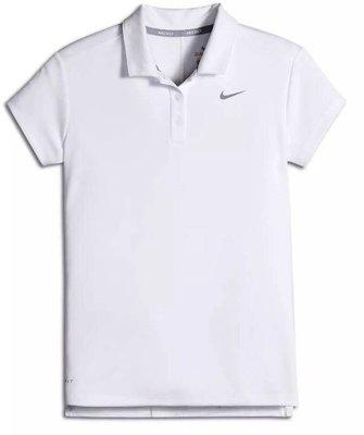 Nike Dri-Fit Victory Girls Golf Polo White/Flat Silver S