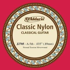 D'Addario J2705 Single Silver Wound 035/J27 5th Normal Tension