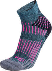 UYN Run Shockwave Socks Grey-Pink-Turquoise Melange/Shockwave Socks