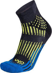 UYN Run Shockwave Socks Anthracite-Royal Blue-Yellow Fluo/Shockwave Socks
