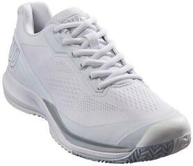 Wilson Rush Pro 3.5 Mens Tennis Shoes White/White/Pearl Blue UK 11