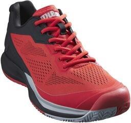 Wilson Rush Pro 3.5 Mens Tennis Shoes Infrared/Black/Pearl Blue UK 8,5