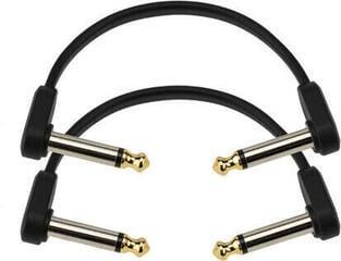 D'Addario Flat Patch Cable Černá 10 cm Lomený - Lomený