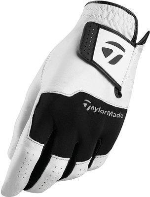 Taylormade Stratus Leather Mens Golf Glove White/Black LH ML