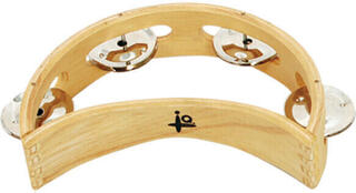 "IQ Plus 6"" Natural Moon Wood Tambourine"