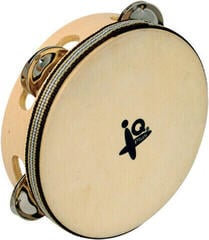"IQ Plus 6"" Natural Headed Tambourine"
