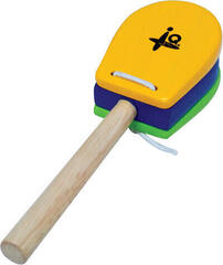 IQ Plus Yellow and Green Castanet with Handle