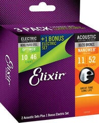 Elixir 16554 Acoustic/Electric Multi Pack