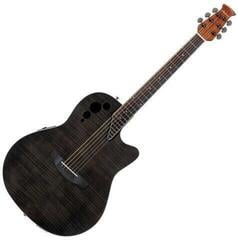 Ovation Applause AE44IIP Mid Cutaway Transparent Black Flame