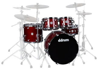 DDRUM Reflex ELT 5pc set Trans Red - Shell Pack
