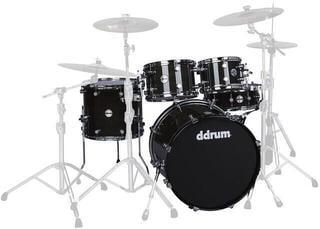 DDRUM Reflex ELT 5pc set Trans Black- Shell Pack