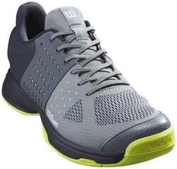 Wilson Kaos Komp Mens Tennis Shoes Lead/Outer Space/Safety Yellow UK 9,5