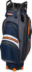 BagBoy Techno 337 Waterproof Navy/Orange/Charcoal/White Cart Bag