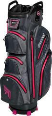 BagBoy Techno 302 Waterproof Cart Bag Slate/Charcoal/Pink