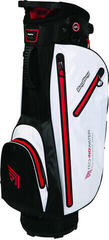 BagBoy Techno 311 Waterproof White/Black/Red Cart Bag