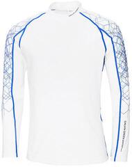 Galvin Green Ebbot Long Sleeve Mens Base Layer White/Kings Blue/Iron S