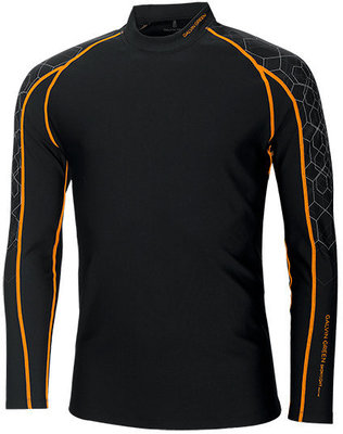 Galvin Green Ebbot Long Sleeve Mens Base Layer Black/Orange/Iron XL