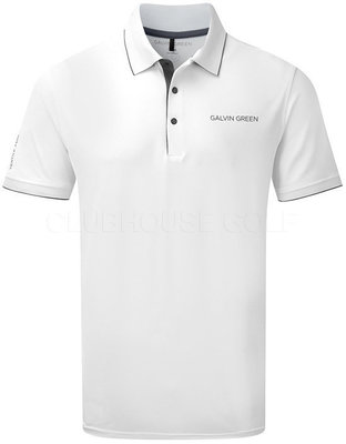 Galvin Green Marty-Tour Shirt White/Iron grey XXL