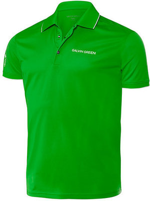 Galvin Green Marty Tour Mens Polo Shirt Forest Green/White M