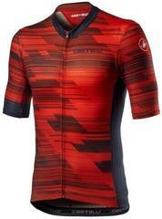 Castelli Rapido Jersey Red/Savile Blue M