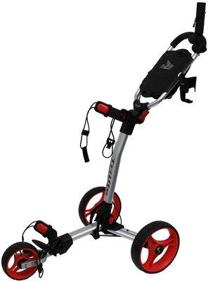 Axglo TriLite Silver/Red Golf Trolley