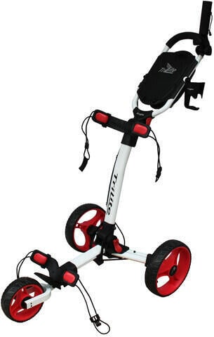 Axglo TriLite White/Red Golf Trolley