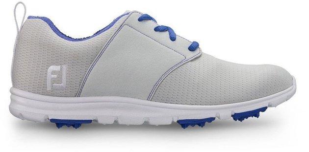 Footjoy Enjoy Womens Golf Shoes Light Grey/Blue US 10