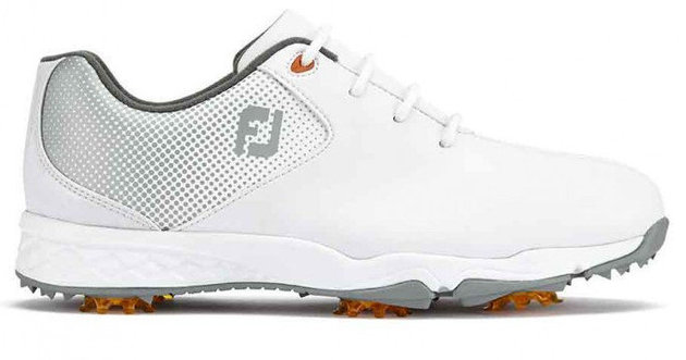 Footjoy DNA Junior Golf Shoes White/Silver US 2
