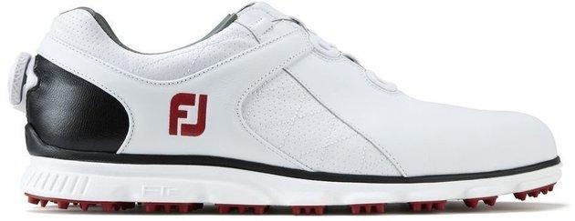 Footjoy Pro SL BOA Mens Golf Shoes White/Black/Red US 10