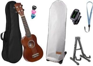 Cascha HH 3956 DE Szoprán ukulele Natural