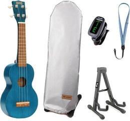 Mahalo MK1 Soprano ukulele Transparent Blue