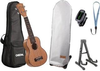 Cascha HH 2026 Premium Szoprán ukulele Natural