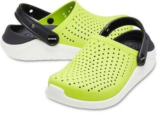Crocs Kids' LiteRide Clog Lime Punch/Black 28-29