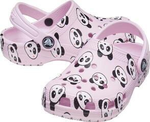 Crocs Kids' Classic Panda Print Clog Ballerina Pink 34-35