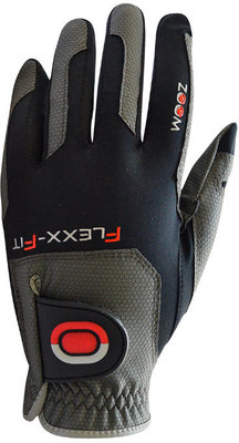 Zoom Gloves Weather Mens Golf Glove Charcoal/Black/Red Left Hand for Right Handed Golfers