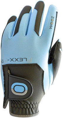 Zoom Gloves Weather Womens Golf Glove Charcoal/Light Blue Left Hand for Right Handed Golfers